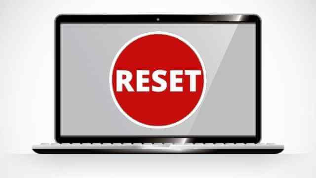 how long does it take to reset a laptop