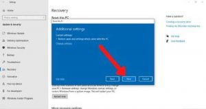 additional settings for iview laptop reset