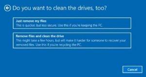remove or clean maximus laptop reset