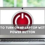 how to turn on hp laptop without power button