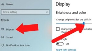 how to lower screen brightness even more windows 10