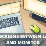 how do i split screens between laptop and monitor